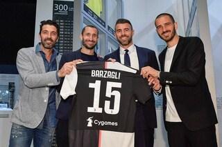 Juventus: la maglia di Barzagli al Museum insieme alla mitica BBBC