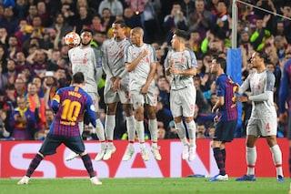 Messi e l'effetto banana, come fa a segnare (quasi) sempre su punizione