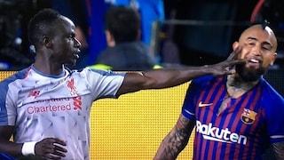 Barcellona, petizione dei tifosi per uno schiaffo di Mané a Vidal: chiesta la squalifica