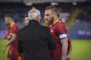 """Roma, Claudio Ranieri: """"De Rossi bandiera storica, non meritava di essere trattato così"""""""