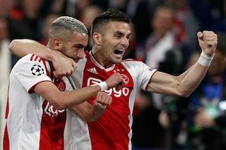 Olanda, l'Ajax è (quasi) campione: ten Hag si consola e festeggia con i tifosi