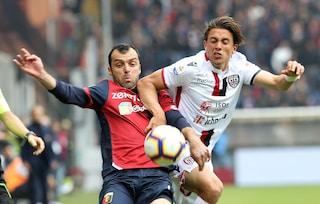 L'ex Pavoletti spaventa il Genoa che si salva nel finale con un rigore di Criscito