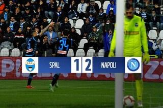 Meret ferma la Spal: al Paolo Mazza il Napoli vince soffrendo