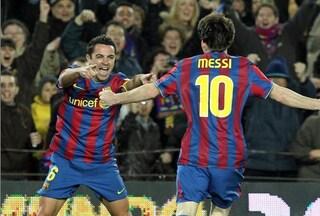 """Xavi si ritira, il saluto di Messi: """"E' stato un piacere giocare con te, grazie di tutto"""""""