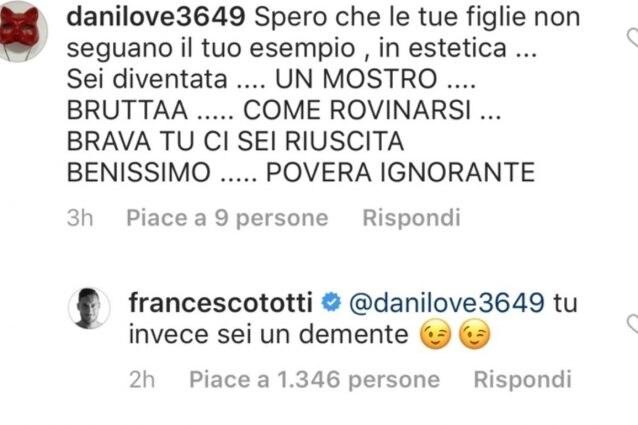 Ilary Blasi insultata su Instagram: