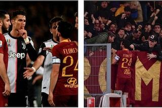 """Florenzi-Ronaldo, i tifosi della Roma: """"Troppo basso per parlare, ma non per segnare"""""""