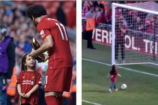Salah vince la Scarpa d'Oro ma il gol più bello è quello della figlia sotto la Kop