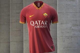 La nuova maglia della Roma per la stagione 2019/2020, fulmini giallorossi