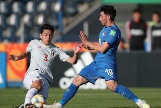 Mondiale Under 20, l'Italia pareggia con il Giappone e chiude al primo posto il girone B