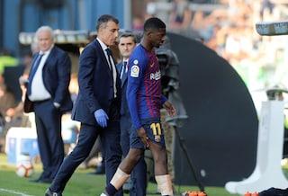 Dembélé, Salah e Firmino saltano per infortunio Liverpool-Barcellona