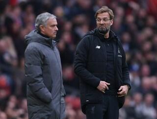 """Mourinho attacca Guardiola e Klopp: """"Pep spendaccione, Jurgen è sempre zero tituli"""""""