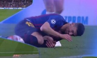 Contuso, felice e col dente spezzato: così Lenglet ha fermato Salah