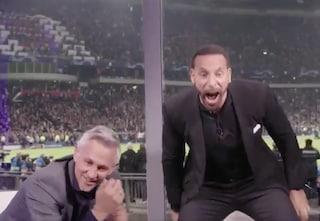 La pazza esultanza di Lineker e Rio Ferdinand per il Tottenham diventa virale