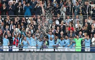 Il Manchester City vince la FA Cup, 6-0 al Watford, Guardiola fa il treble