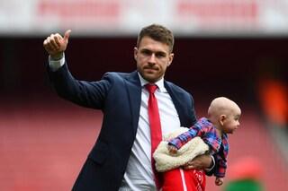 Arsenal: Ramsey saluta il club, tra applausi cori e le lacrime. Il futuro è alla Juventus