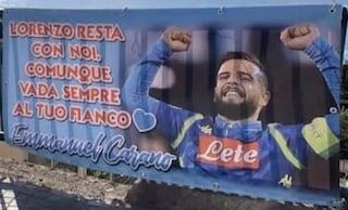 """""""Lorenzo resta con noi"""", lo striscione dei tifosi del Napoli per Insigne"""