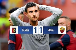Roma, chance Champions League fallita: solo un pareggio contro il Genoa