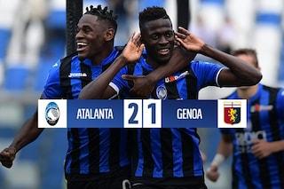 Atalanta sempre più vicina alla qualificazione Champions, Genoa battuto 2-1
