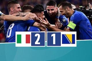 Qualificazioni Euro 2020, l'Italia batte anche la Bosnia grazie a Insigne e Verratti