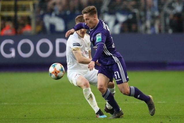 Verschaeren in azione con la maglia dell'Anderlecht