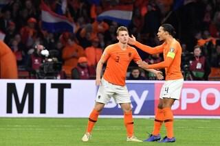 Olanda-Inghilterra, risultato finale 3-1