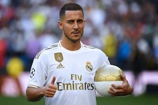 """Real Madrid, la presentazione di Hazard è uno show: """"Ora voglio vincere con questa maglia"""""""