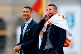 """Sergio Ramos: """"Cristiano Ronaldo non mi ha telefonato per andare alla Juve"""""""