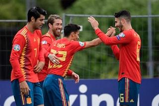 Euro 2020, Spagna e Ucraina a valanga. Gol pesanti per Piatek e Schick
