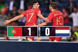 Nations League: il Portogallo batte l'Olanda, decide Guedes