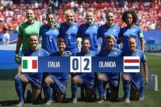 Mondiali femminili 2019, Italia sconfitta 2-0 dall'Olanda: Azzurre eliminate