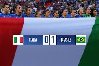 Mondiali femminili 2019, Italia-Brasile 0-1 ma le azzurre vanno agli ottavi da prime del girone