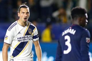 Ibrahimovic, eccezionale gol in rovesciata in Los Angeles Galaxy-New England Revolution