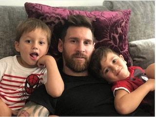 """Leo Messi: """"Mio figlio Mateo esulta quando segna il Real Madrid"""""""