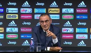 """Juve, Maurizio Sarri: """"Non cambio idea, pessimi i cori contri Napoli. Partite da fermare"""""""