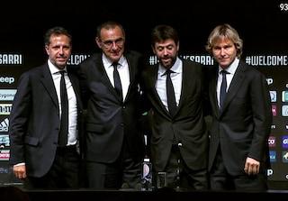 Sarri a cena con Agnelli e Nedved, il diktat è vincere la Champions
