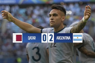 Copa America 2019, Lautaro e Aguero in gol: l'Argentina batte il Qatar e vola ai quarti