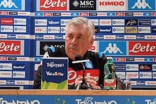 """Napoli, Ancelotti: """"Faremo calcio di qualità, Rodriguez ne ha. Icardi? Ottimo giocatore"""""""
