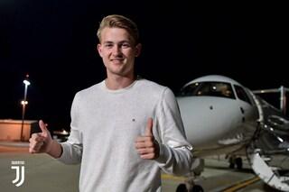 Matthijs de Ligt alla Juventus, l'arrivo a Torino, visite mediche e firma