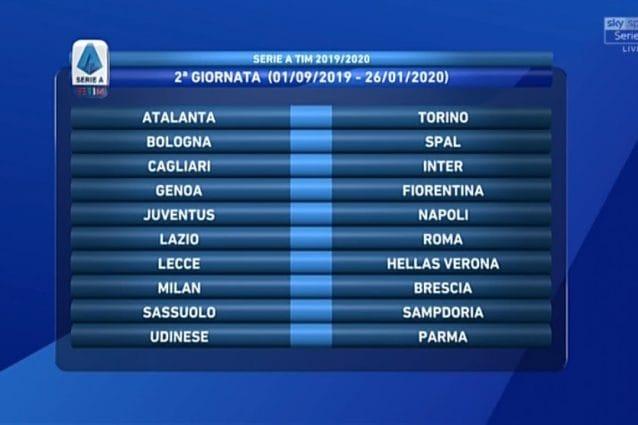 Sorteggio Calendario Serie A Juventus.Il Calendario Completo Della Serie A 2019 2020 Calcio Fanpage