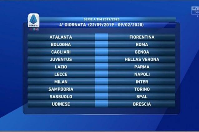 Udinese Calendario 2020.Il Calendario Completo Della Serie A 2019 2020 Calcio Fanpage