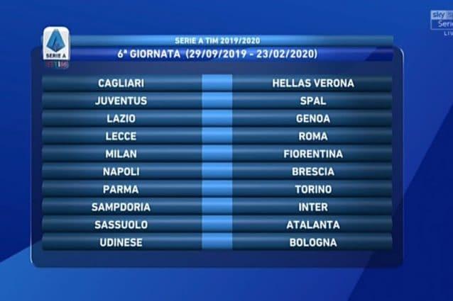 Calendario Serie A Sampdoria.Il Calendario Completo Della Serie A 2019 2020 Calcio Fanpage