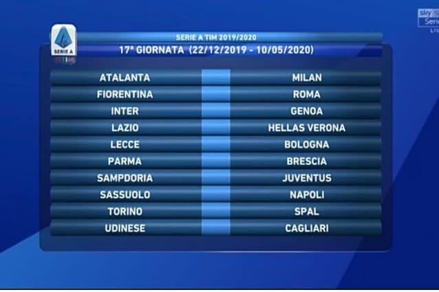 Serie A Calendario Inter.Il Calendario Completo Della Serie A 2019 2020 Calcio Fanpage