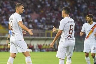 Roma, 3-1 al Perugia. Doppietta di Mancini e gol di Dzeko. Fonseca vince ancora