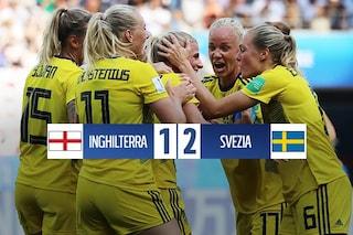 La Svezia batte l'Inghilterra (2-1) e sale sul podio del Mondiale femminile