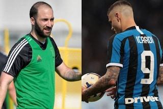 Gonzalo Higuain per Mauro Icardi, lo scambio di mercato che può convenire a Juve e Inter