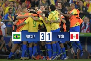 Brasile, la Copa America 2019 è tua: 3-1 al Perù in finale