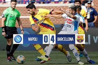 Il Napoli non c'è e il Barcellona fa poker, il risultato di 0-4 è devastante