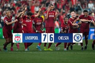 Supercoppa Uefa, Liverpool-Chelsea 7-6 dcr: Manè show, i rigori condannano Lampard