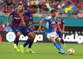 Barcellona-Napoli 2-1, decide un bel gol di Ivan Rakitic