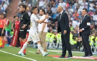 James dal 1' col Valladolid, esce tra gli applausi dei tifosi: saluto a Zidane e al Real?